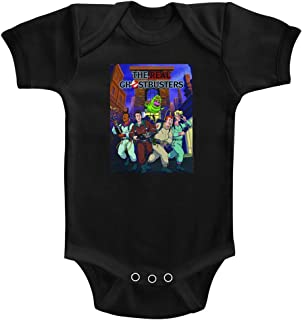 d771ea22 The Real Ghostbusters TV Series Poster Ish Black Infant Baby Romper Snapsuit