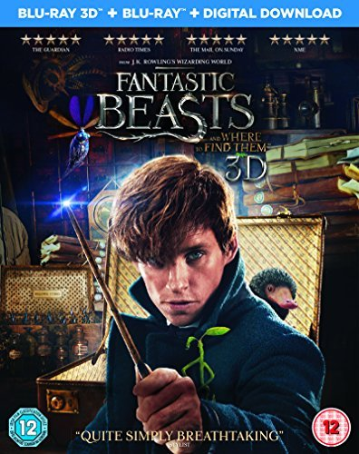 Fantastic Beasts and Where To Find Them [Blu-ray 3D + Blu-ray + Digital Download] [2016]