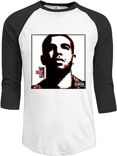 Drake Singer Thank Me Later Mens Tshirts 3/4 Sleeve Raglan Baseball