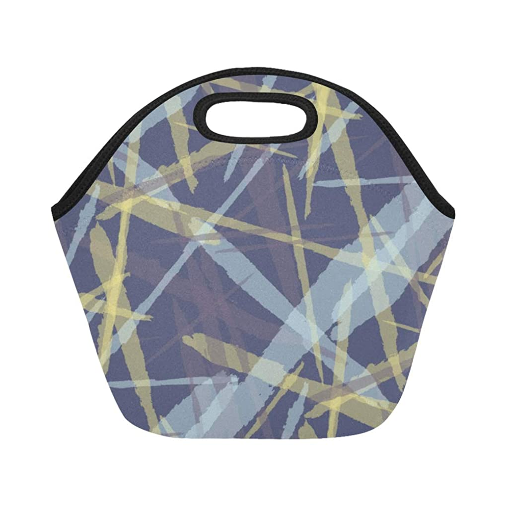不健全作物等々JLDG ランチバッグ ストライプチェック柄 弁当袋 お弁当入れ 保温保冷 トート 弁当バッグ 大容量 トートバッグ