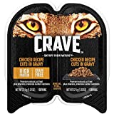 Crave Grain Free Adult Wet Cat Food Chicken Recipe Cuts In Gravy, (24) 2.6 Oz. Twin-Pack Trays