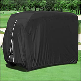 Waterproof Golf Cart Dust Cover For 2 Or 4 Passengers Golf Cart Dust Prevention Cover Fits For Club Car Golf Carts