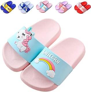 NADARDA Kids Unicorn Slippers Slide Sandals, Cute Water Shoes Boys Girls Shower Pool Slipper (Toddler/Little Kids)