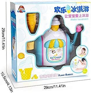 Bubble Machine - Baby Bath Toys Ice Cream Bubble Maker Machine Bathroom Essential Bath Toys Bubble Ice Creams Maker Foam Factory Bathtub Toy
