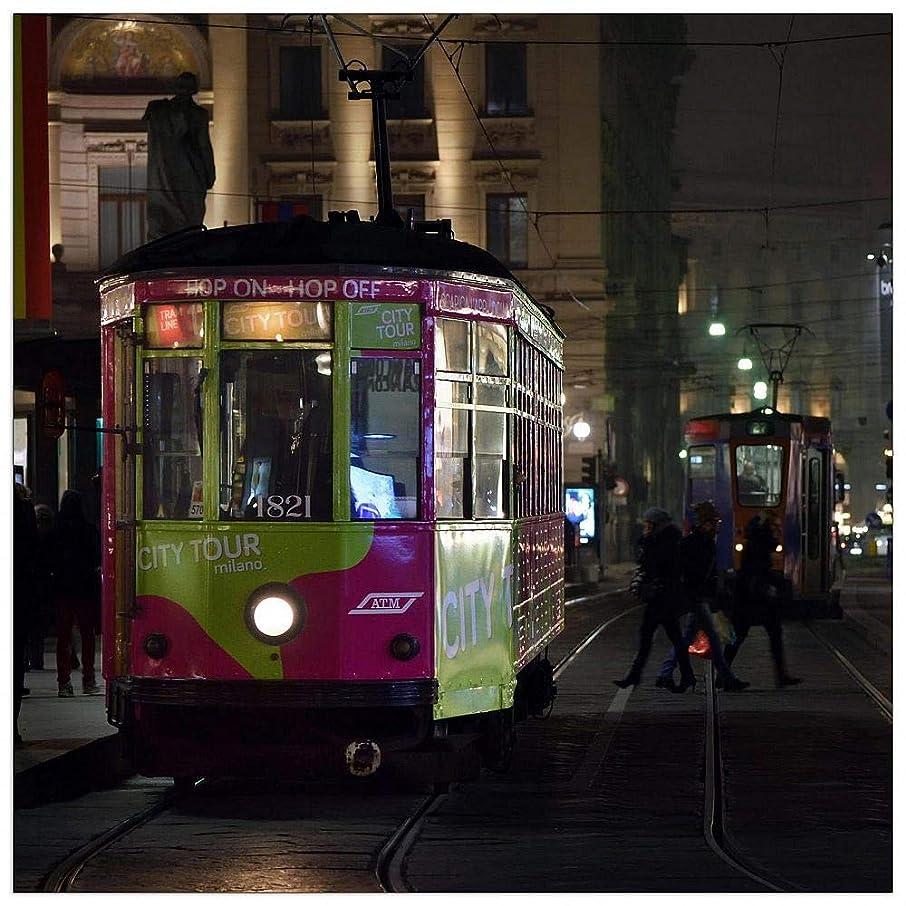 ArtPlaza TW92679 Art Studio - Tram Milano Decorative Panel 31.5x31.5 Inch Multicolored