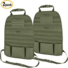 WYNEX Car Seat Back Organizer, 2019 Tactical Molle Vehicle Panel Universal Fit Car Backseat Cover Protector with 3 Storage Pouch