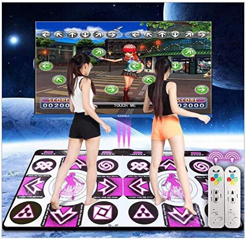 Alfombrillas de danza, LED inalámbrico, doble alfombrilla de baile, almohadilla de espuma Wii, aislamiento acústico grueso, manta de baile suave para adultos/niños, doble uso para TV HD y computadora