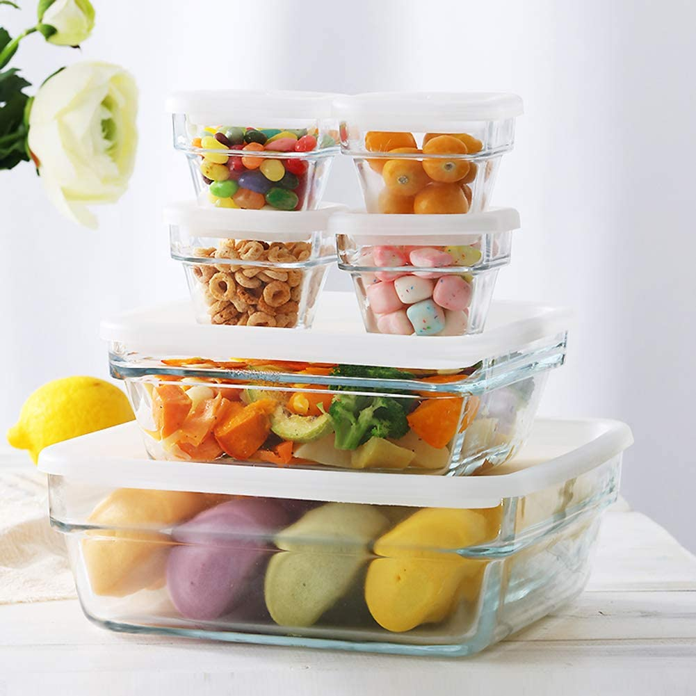 Glass Storage excellence 6 Piece Set Meal Gla Premier Very popular Prep Containers
