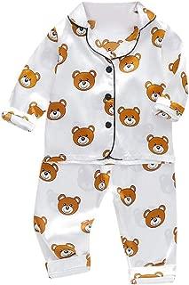 Toddler Baby Boys Long Sleeve Cartoon Bear Tops+Pants Pajamas Sleepwear Outfits
