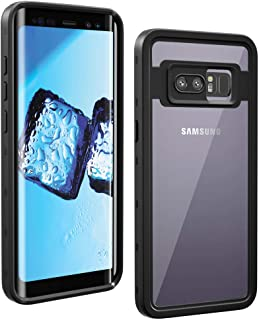meritcase Samsung Galaxy Note 8 Waterproof Case, Galaxy Note 8 Case with Kickstand Built in Screen Protector Dirtproof Snowproof Phone Case for Galaxy Note 8 -Black