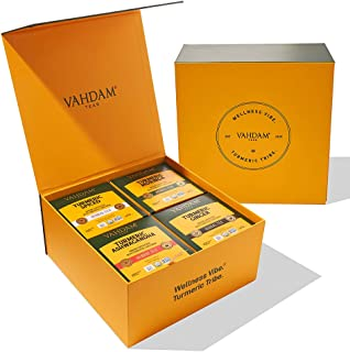 VAHDAM, Organic Turmeric '15 Day' Wellness Detox SUPERFOOD | 60 Herbal Tea Bags Gift Set | Detox Tea for We...