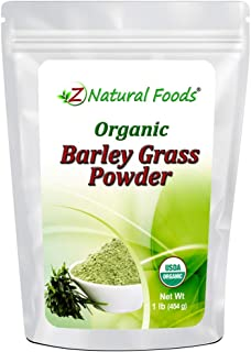 Organic Barley Grass Powder - Green Superfood Supplement for Drinks, Juice, Shakes, Smoothies, Recipes - All Natural Vitam...