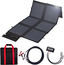 MEGSUN 120Watt 12V Portable Folding Solar Panel 18V Monocrystalline with a 10A Controller Ideal for Camping, Caravan, Motorhome Rallies, Trade Shows, Mobile Offices 12V System(Black) in Suitcase