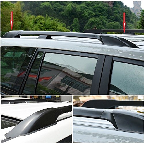 TBvechi Roof Rack Leg Cover for Original Car Luggage Rack 4Pcs Black ABS Roof Rack Bar Rail End Protection Cover Shell for Toyota Land Cruiser Prado Fj120 2003-2009