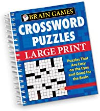 Brain Games 80 Large Print Crossword Puzzle Book - Fun Gift Ideas for Puzzle Lovers
