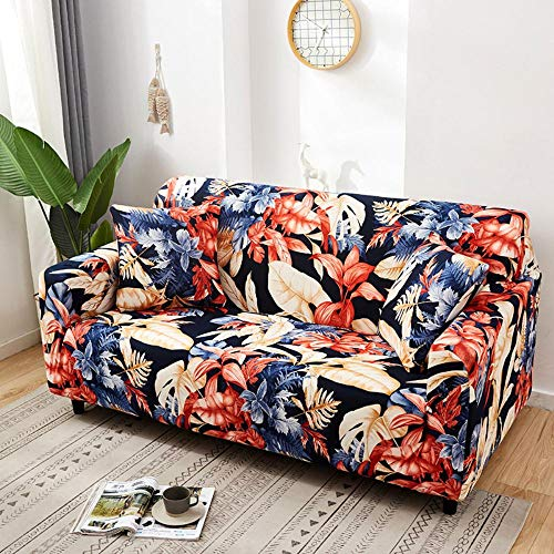 LHYLJN Printed Stretch Sofa Cover 2 Seater - Elastic Polyester Spandex Couch Covers- Universal Fitted Sofa Slipcover For and Couch Furniture Protector,Kn01,3 Seater