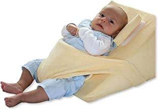 GWXLD Cu/ñA Antireflujo Bebe para Dormir para Plegable Almohada De Cu/ñA De Cama De Espuma con Funda Lavable Extra/íBle Pink