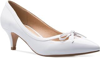 OLIVIA K Women¡¯s Classic Closed Toe D'Orsay Bow Kitten...