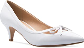 Women¡¯s Classic Closed Toe D'Orsay Bow Kitten Heel Pump | Dress, Work, Party Mid Heeled Pumps