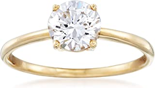 Ross-Simons 1.00 Carat CZ Solitaire Ring in 14kt Yellow Gold