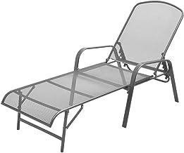 Festnight Garden Lounger Steel Metal Sunlounger for Pool, Patio, Garden or Living Room Anthracite