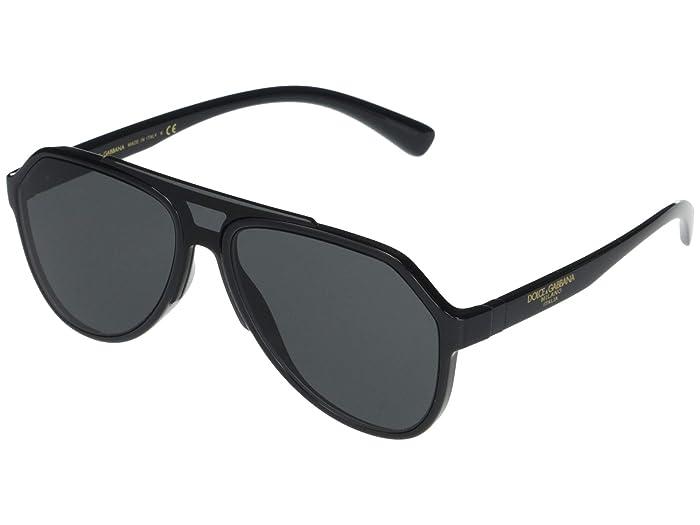 Dolce and Gabbana  DG6128 (Black/Grey) Fashion Sunglasses