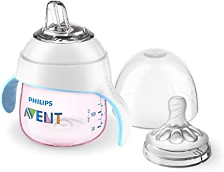 Philips Avent My Natural Trainer Sippy Cup, SCF262/02, Pink
