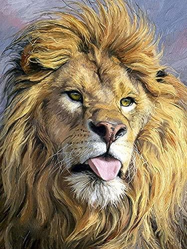 5D DIY diamante pintura León animales bordado de diamantes punto de cruz diamantes de imitación mosaico arte decoración del hogar A6 45x60cm
