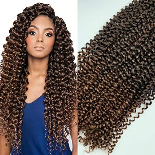 "22"" que son 50cm y 110g. Extensiones onduladas para trenzas de ganchillo, cabello de Fibra sintético para crochet hair, con tacto natural. color 1B-30"