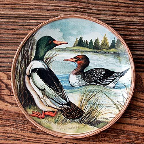 YUWANW plaque en céramique, plaque modèle de canard mignon, plaque de décoration de la maison, la nourriture occidentale, plaque fritures