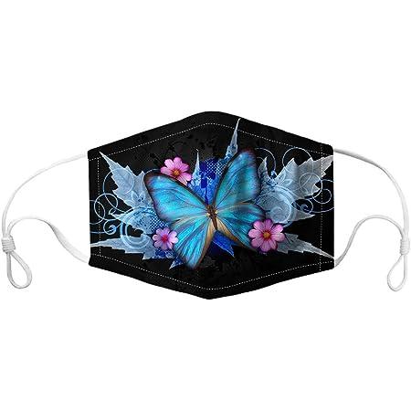 Lomelomme Sch/öner Schmetterling Mundschutz Bandana fur Damen Waschbar Atmungsaktiv Halstuch Multifunktionstuch