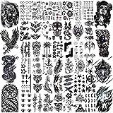 VANTATY 50 Sheets Black Temporary Tattoos For...