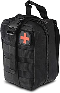 Tactical Medical First Aid Pouch - 1000D EMT Molle Utility Pouch Bag Multifunction Nylon Pouch for Hiking Riding Camping Outdoor Sports