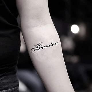 Brandon Temporary Fake Tattoo Sticker (Set of 2) - www.ohmytat.com