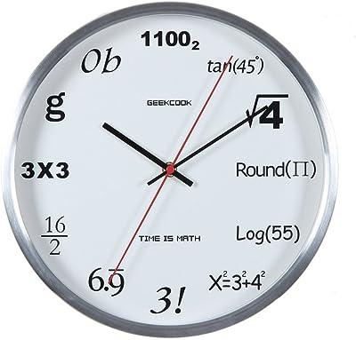 LianLe 12 Number Innovative Quartz Wall Clock Non Ticking Metal Clock, silvery