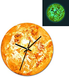 Alimao Retro style 3D Luminous Large Plan Fluorescent Wall clock Removable Glow In The Dark clocks Special sales