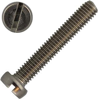 material acero inoxidable V2A//Aisi 304 Tornillos cil/índricos con ranura DIN 84 M5 x 20 mm 10 unidades