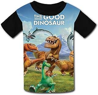 QIANBAIHUI Kids Youth The-Good-Dinosaur 3D Printed Short Sleeve T Shirt Tee