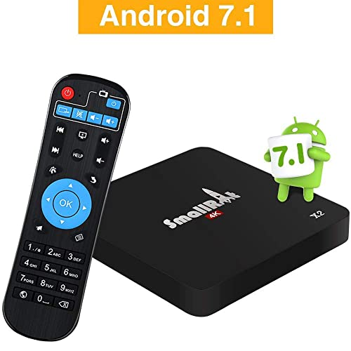 Android 7.1 Set Top Box SMALLRT X2 Smart TV Box 4K UHD Android Media Player Support 2.4Ghz Wifi Quad Core for Home Entertainment