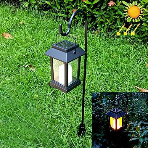 ZYDPDJZM-DD Lámpara De Pared Lámpara De Césped LEH-55143G Energía Solar Vela Jardín De Luz LED con Panel Solar De Silicio Amorfo Polo Y 0.2W.