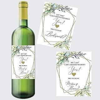 will you be my bridesmaid wine box