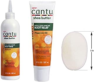 Cantu Shea Butter REFRESH Root Care Set with Loofah Facial Cleansing Pad