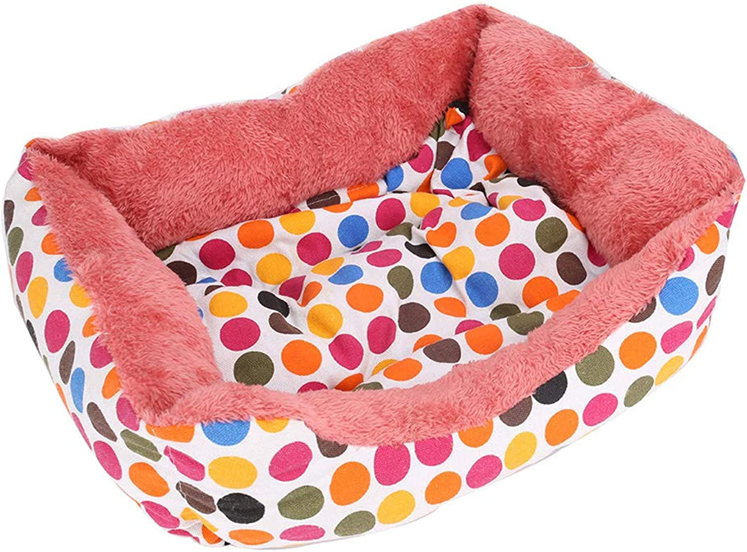 Hxyan Dog Bed Pet Nest Cat Bed Small Medium Wave Point Not Deformed Short Plush Pet Pad 65  55cm