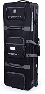 Legend Everest Hybrid Roller Bow Case - Compound Archery Gear Rolling Travel Bag - Compact, Airline-Approved, TSA Lock, Metal Frame, Thick Safety Padding, Extra Pockets