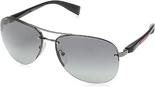 Sport PS56MS 5AV3M1 Gunmetal PS56MS Pilot Sunglasses Lens...