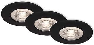 Briloner Leuchten 7046-035 Luminaires LED, Jeu de 3 Lampes encastrées, plafonniers de 5 Watts, 460 lumens chacun, 3 000 Ke...