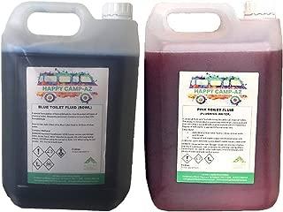 Limpiador en líquido para inodoro químico y protector para autocaravana, 5 l, 2 unidades, azul y rosa