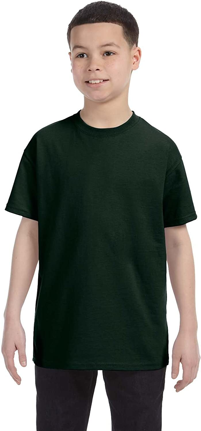 Hanes Youth 61 oz Tagless T-Shirt - DEEP FOREST - S - (Style # 54500 - Original Label)