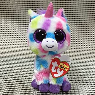 IN HAND NEW TY BEANIES BOOS SERIES STUFFED ANIMAL BIG EYES GLITTER Colorful Unicorn Wishful 15cm 6