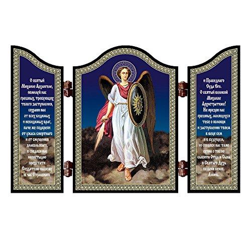 NKlaus 1423 Erzengel Michael christliche Ikone Diptychon Arhangel Mihail & molitv